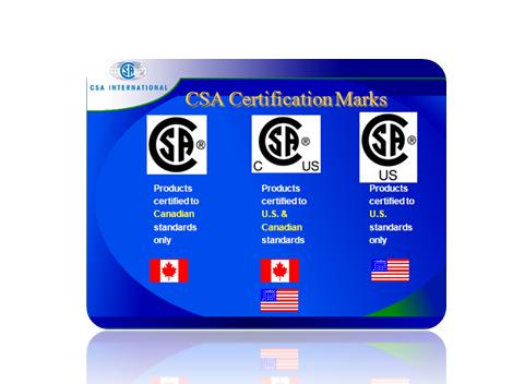 CSA标志对应国家地图图