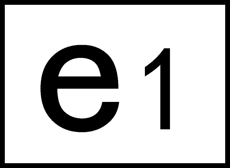 小写e标志,方形e标志