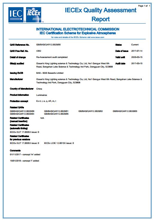 IECEx证书